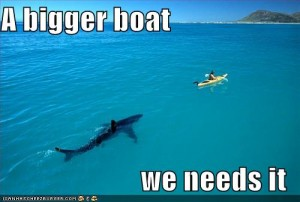 funny pictures lolspeak jaws shark 300x202 Crazy Fans, unite! This was a mind blowing weekend.