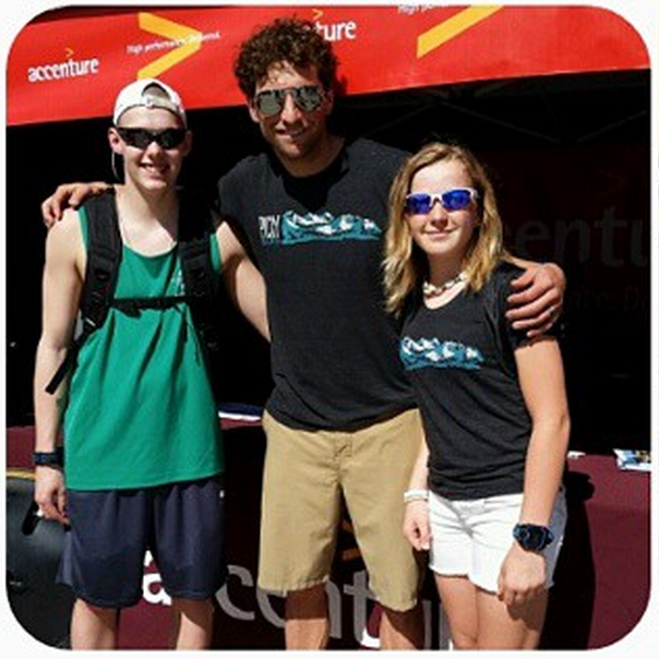 Got to chat with some up and coming triathletes at the Accenture booth. Thanks to everyone who stopped by! photo from Sydney Lewis