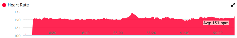 That little mountain on my swim HR graph is me wrecking myself trying to catch back up to the group between lap 1 and 2.