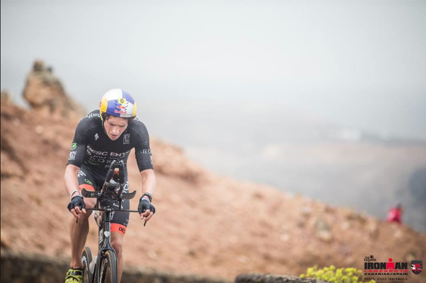 Kona is the hardest race on the planet because it's the World Champs, but Lanzarote and Wales had over 7k feet a climbing, putting me with my best chance to ride back to the front. Photo Club LaSanta/Ironman.