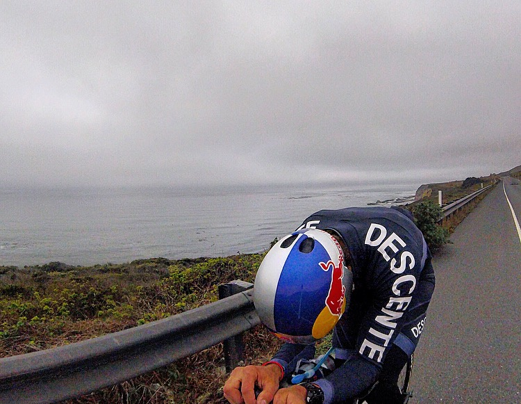 Really digging the new Descente Cycling stuff and my new Red Bull helmet!