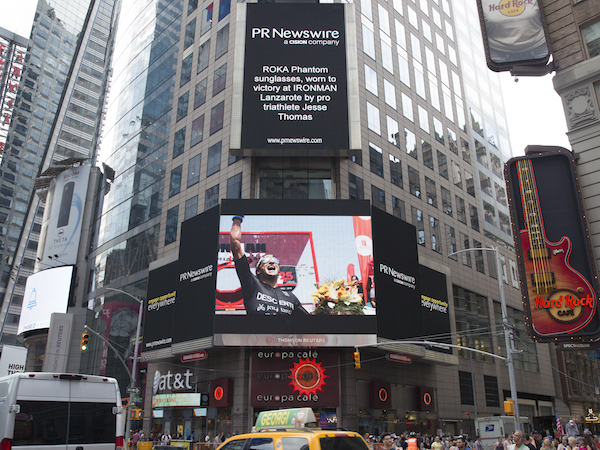 Talk about things you never thought would happen - this ad ran last week in Times Square!